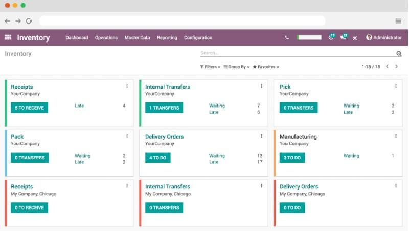 Odoo inventory management system for the energy industry